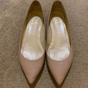 Christian Louboutin nude Pigalle Flats 39.5